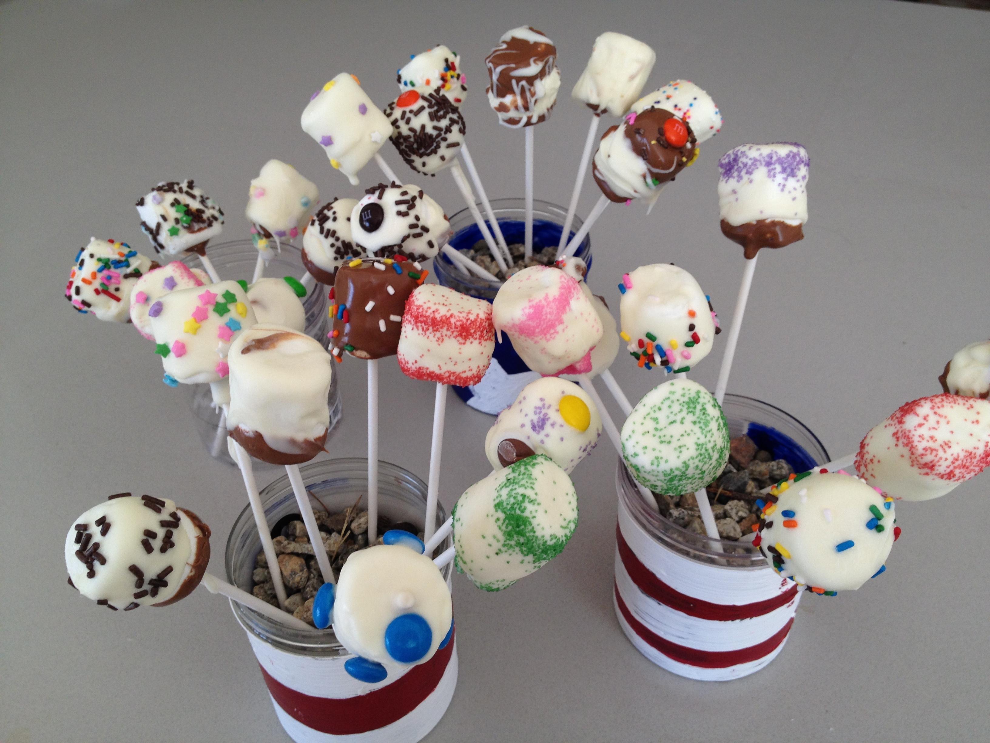 Chocolate covered Marshmallow Pops – modernshelterblog